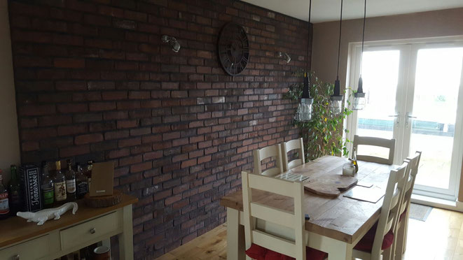 Brick Slip Feature Wall in Furness Grey Brown brick1