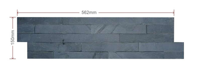 ECO Black Split Faced Slate Mini