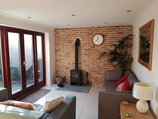 Brick Slip Wall and Fire Surround