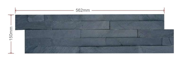 ECO Black Split Faced Slate Maxi
