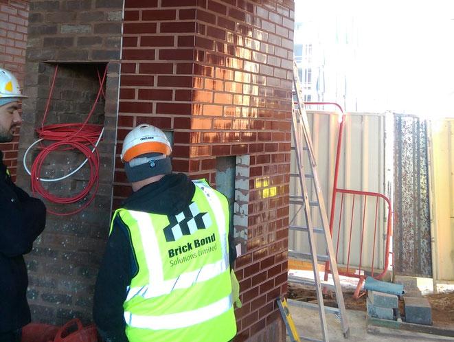 Brick Cladding Installation Team