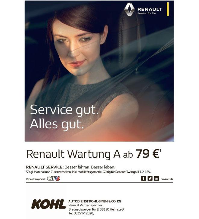 Serviceangebot für Renault Wartung A