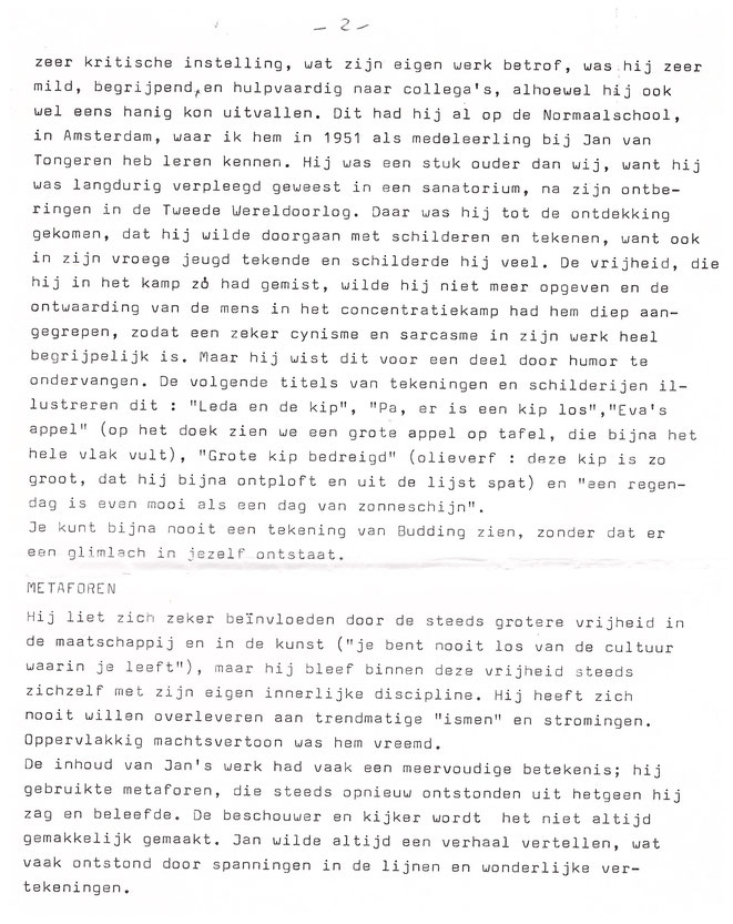 Jan Budding tekst Louis Vorkink tentoonstelling 1990 Wassenaar Galerie Bianca vervolg.