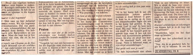 Betty van Garrel interview NRC 83 vervolg.