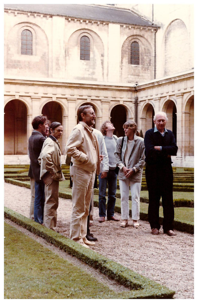 Jan Budding + vier andere kunstenaars expositie '85 in Caen, Frankrijk.