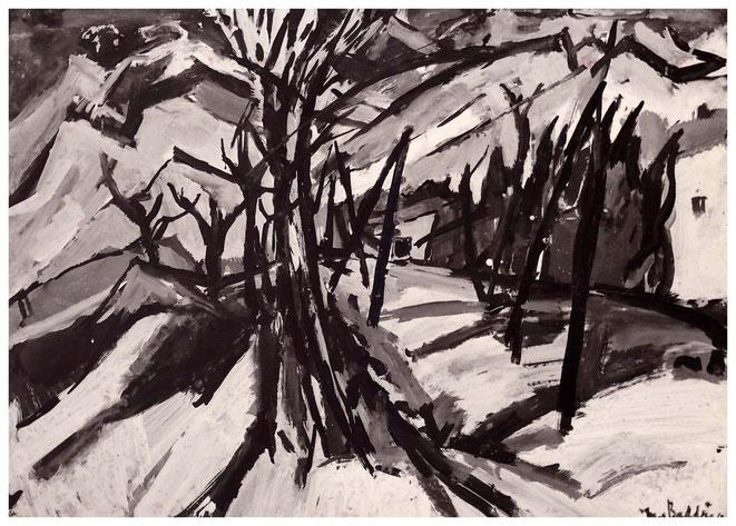 "Jan Budding ""Landschap Pyreneeën"" acryl"