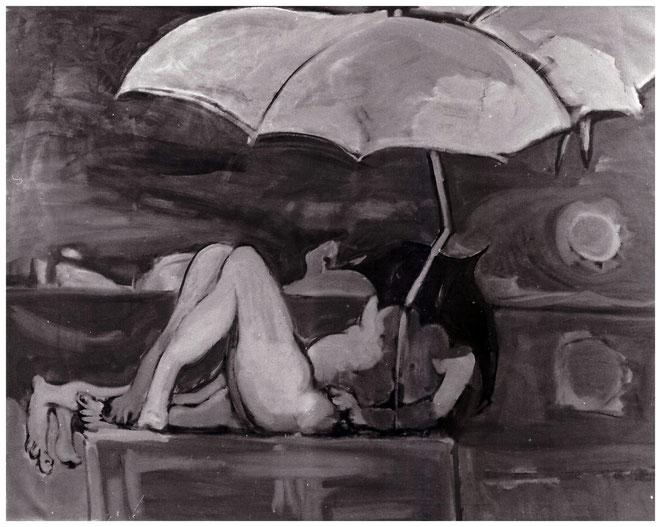 """Jan Budding """"Beschermde liefde"""" olieverf op linnen 120 x 150 cm"""