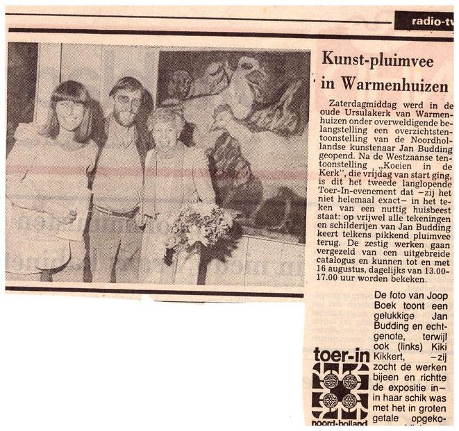 Jan Budding NHD overzicht 1981 in Ursulakerk Wamenhuizen.