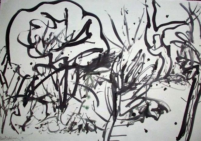 Jan Budding o.i. inkt '85 (Galerie Kuindersma).