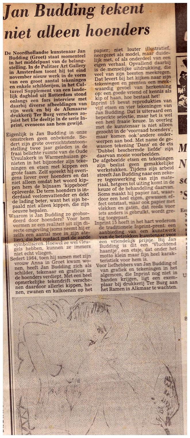 Jan Budding bij uitgave en expo Inprint.