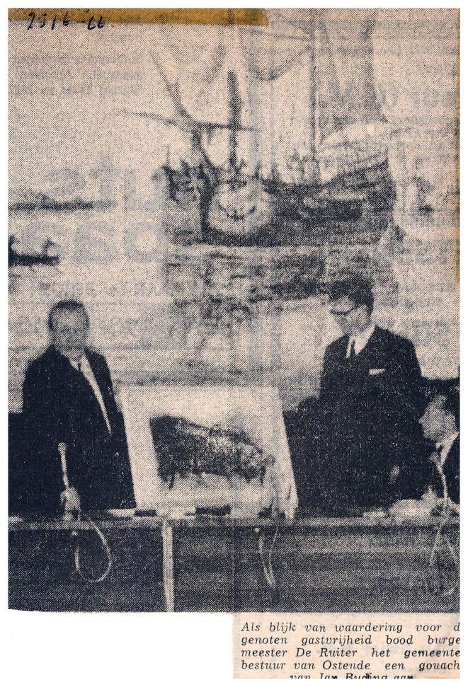 Jan Budding werkschenking aan Oostende.