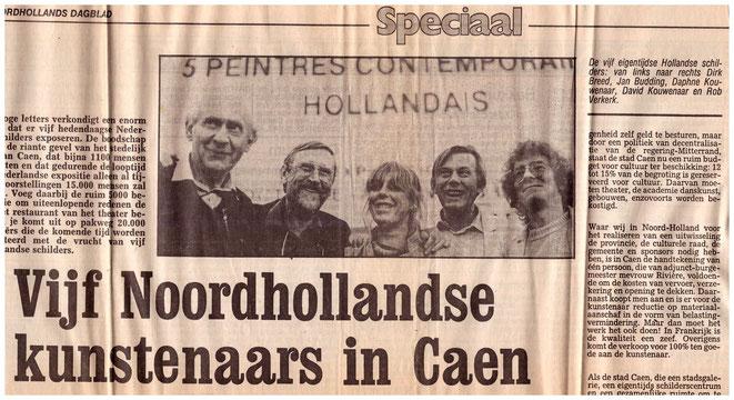 Jan Budding deelnemer groepsexpo '85 in Caen, Frankrijk.
