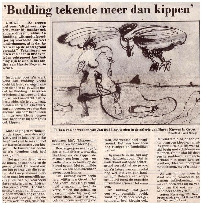 Jan Budding postume expo Harrie Kuyten Galerie, Groet.