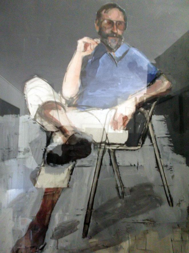 Jan Budding geschilderd door kunstenaar Peter Bes.