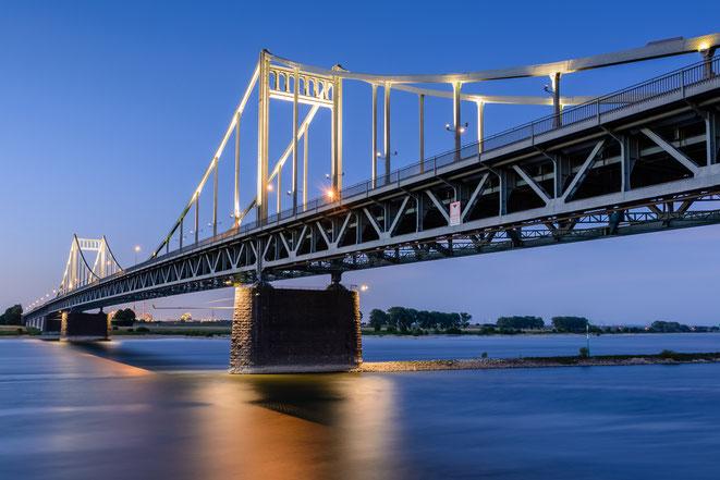 Rheinbrücke Uerdingen; Detektei Krefeld, Detektiv Krefeld, Wirtschaftsdetektei Krefeld