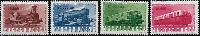 adopengö Sondermarken 100 Jahre Eisenbahn, Hyperinflation