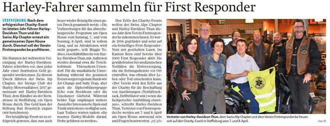 Zeitungsartikel; Berner Oberländer vom 3.4.2018