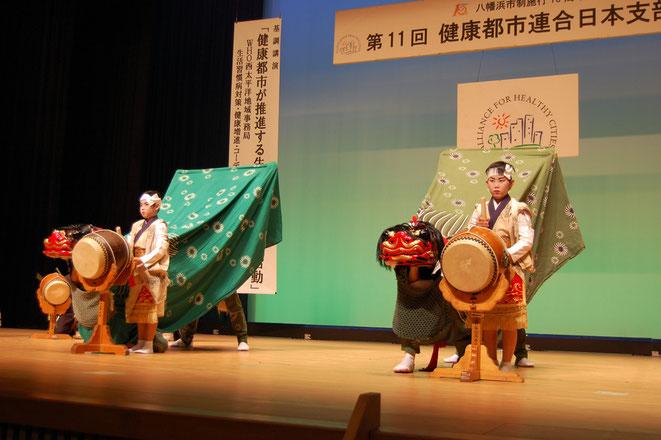 保内町和田町地区唐獅子保存会の演舞