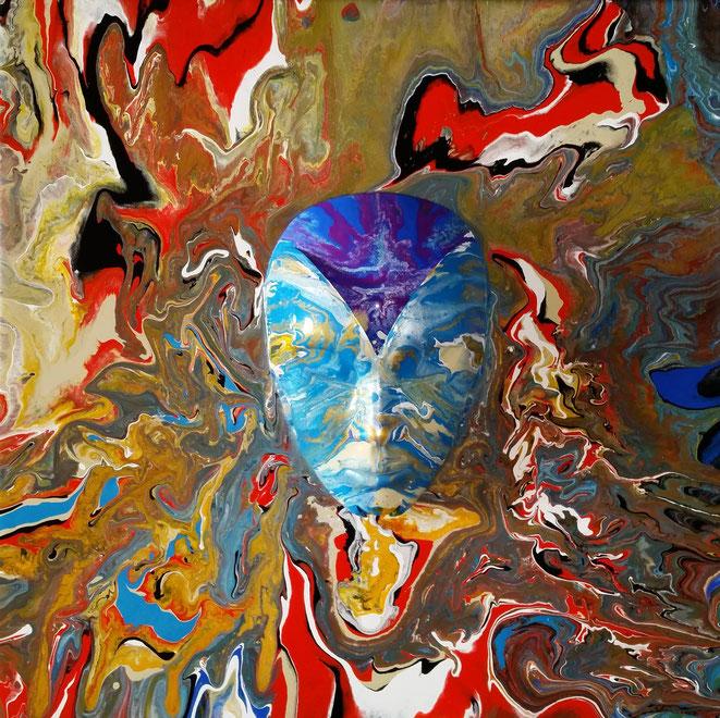 Bo Boßhammer Venezia Maske Acryl plastisch
