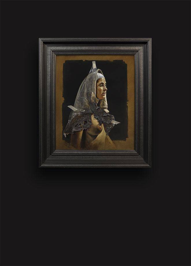 Le voile du silence II - Huile sur toile 65X54