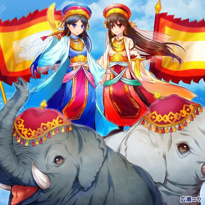 illust Hai Ba Trung Hai Bà Trưng  ハイバーチュン trung sisters 広瀬コウ  hirose kou