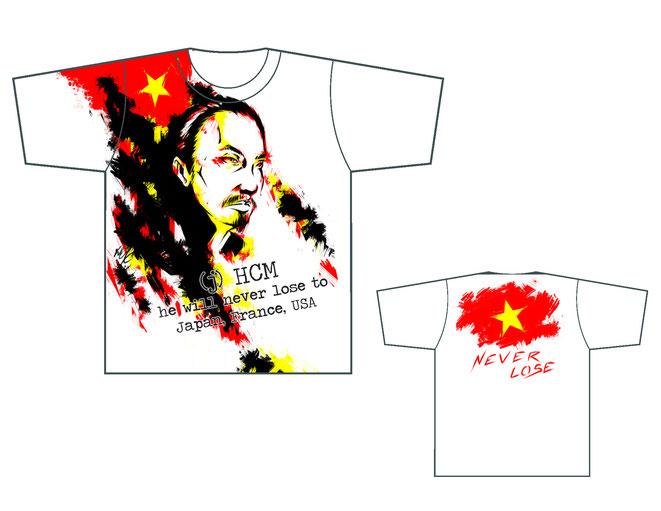 T\shirt illust Ho Chi Minh Hồ Chí Minh 胡志明 ホーチミン by Khanh Ong