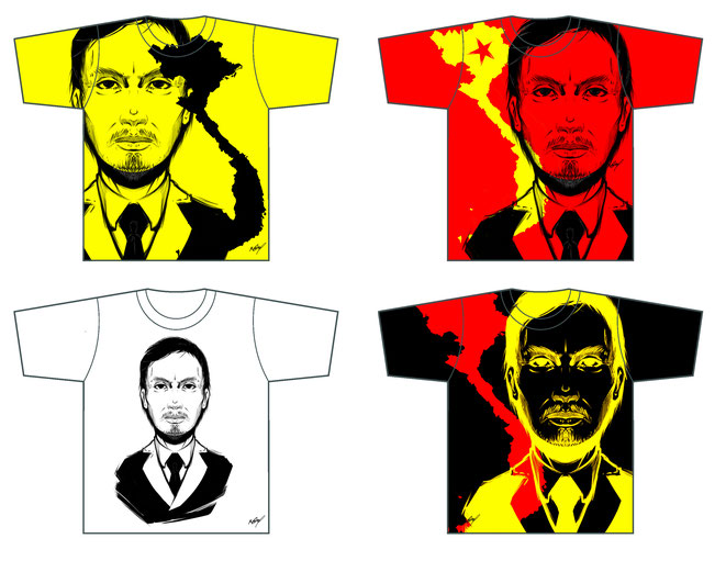 T shirt illust Ho Chi Minh Hồ Chí Minh 胡志明 ホーチミン by Khanh Ong