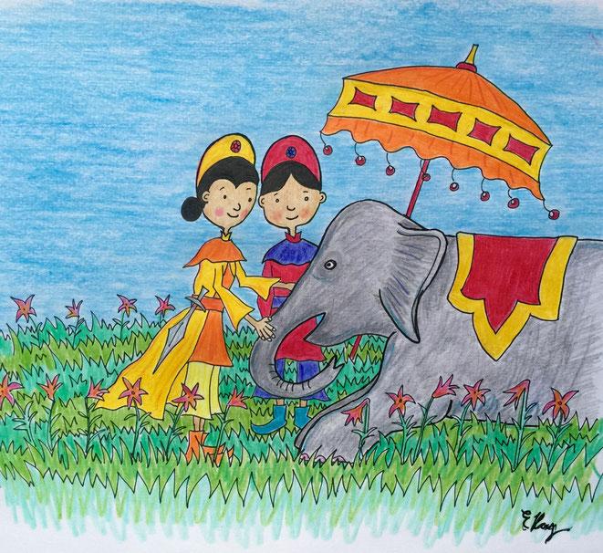 illust Hai Ba Trung Hai Bà Trưng  ハイバーチュン trung sisters by Elka Ray