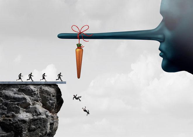 Gerade im Immobilien- und Anlagebereich werden bei Kick-back-Geschäften häufig ohnehin verzweifelte Kunden mit unseriösen Angeboten gelockt, um sie im Anschluss eiskalt über die Klinge des Bankrotts springen zu lassen.