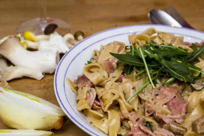 Tagliatelle funghi Pasta Pilze Rezept
