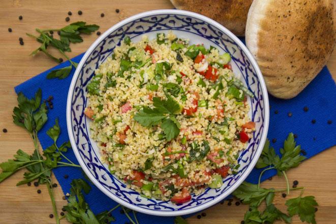 Tabouleh Rezept Taboulé Tabbouleh Bulgur Salat selber machen arabisch original libanesisch Libanon Israel