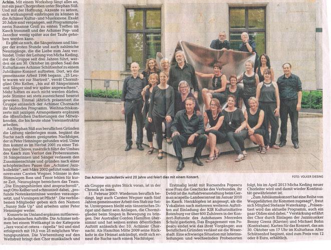 Das Achimer Jazzkollektiv feiert 20 jähriges Jubiläum