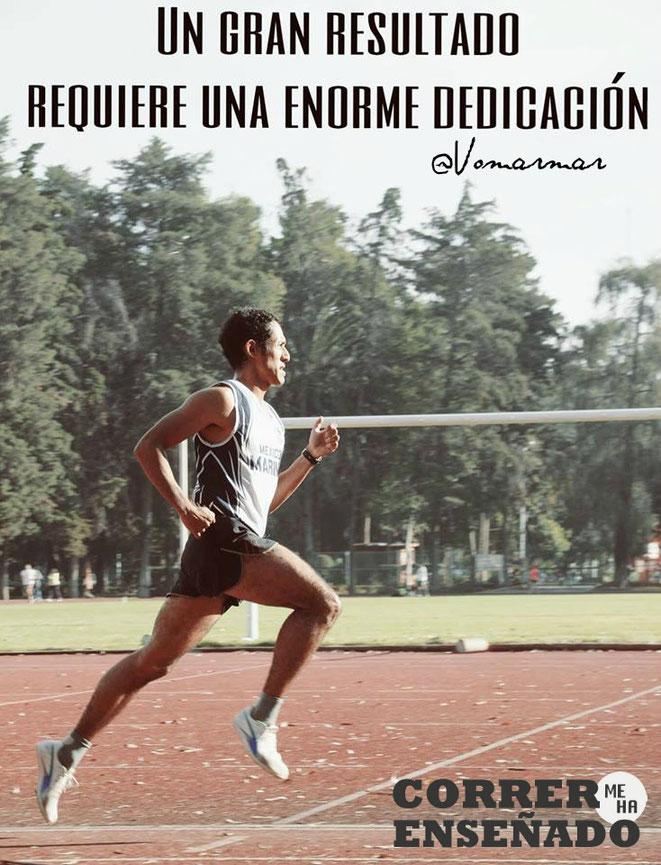 """""""Un gran resultado requiere una enorme dedicación"""" Omar Martinez. Fotografía de Jesús Ortega."""