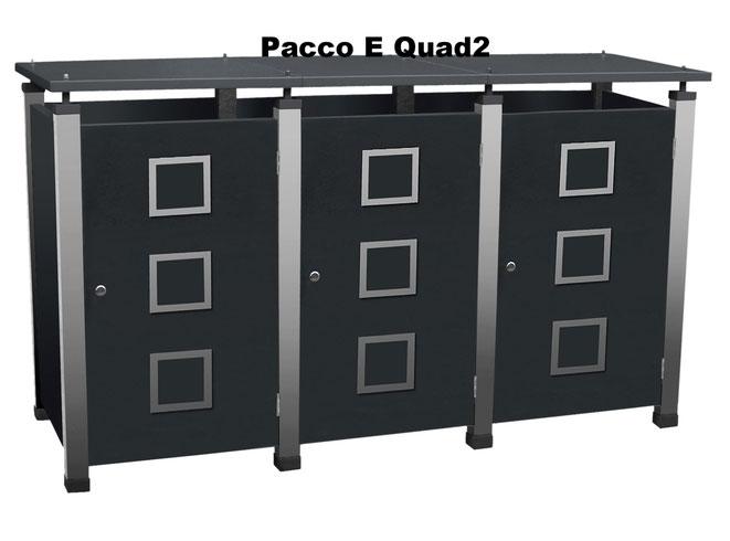 Mülltonnenboxen gibt es in verschiedenen Designs und Farben.