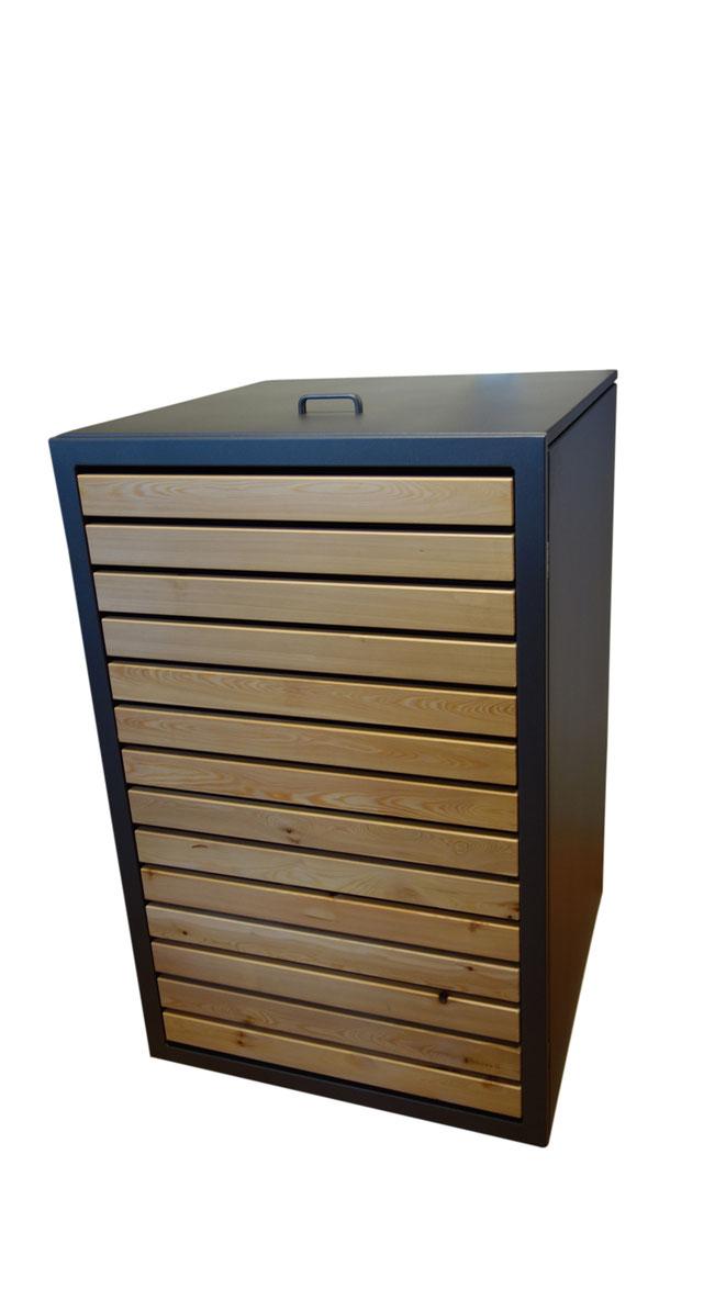 Mülltonnenboxen Magnat, eine der schwersten und stabilsten am Markt.