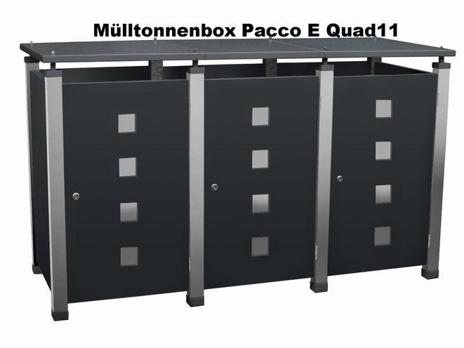 Die Pacco ist eine felxible Mülltonnenverkleidung die beliebig erweiterbar ist.