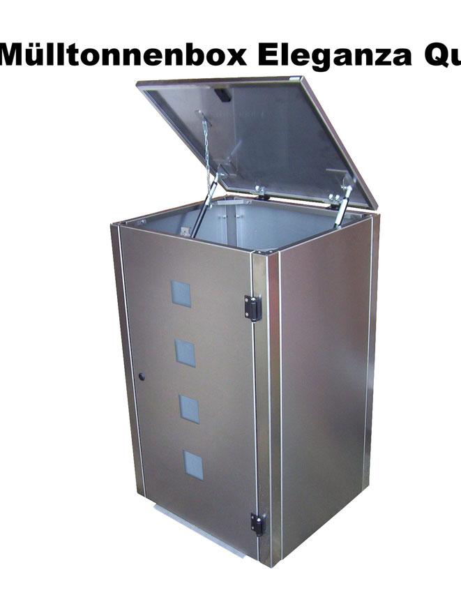 Mülltonnenboxen lassen die drei bis vier bunten und häßlichen Mülltonnen im Vorgarten schick verschwinden.