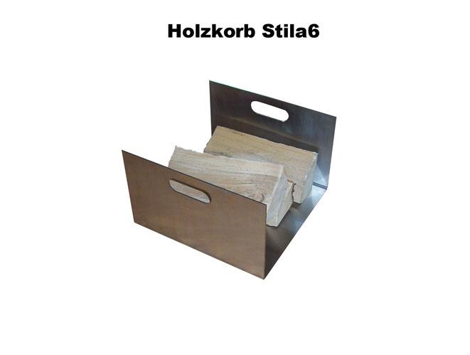 Holzkörbe eignen sich prima zum aufbewahren von Kaminholz.
