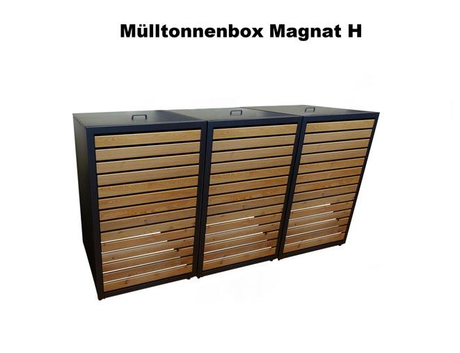 Mülltonnenboxen und Mülltonnenverkleidungen gibt es in verschiedenen Designs, Ausführungen und Farben von riba-muelltonnenboxen.
