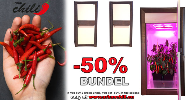 -50% BUDDY BUNDEL, buy 2 urban Chilis and get -50% at the second one