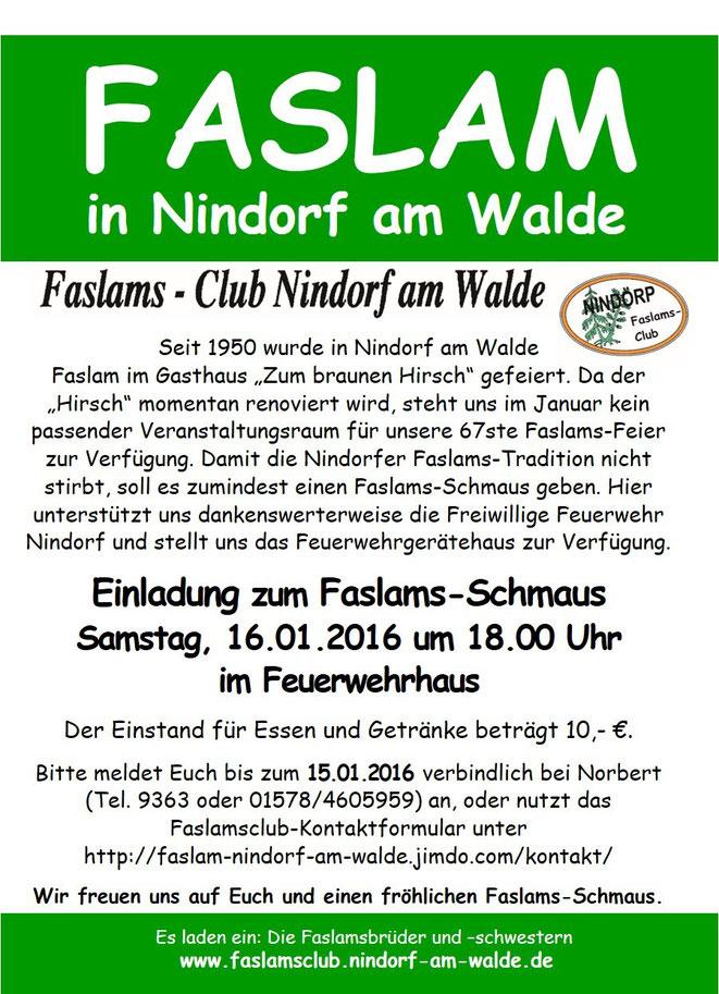 faslam - nindorf am walde - hanstedt - lüneburger heide, Einladung