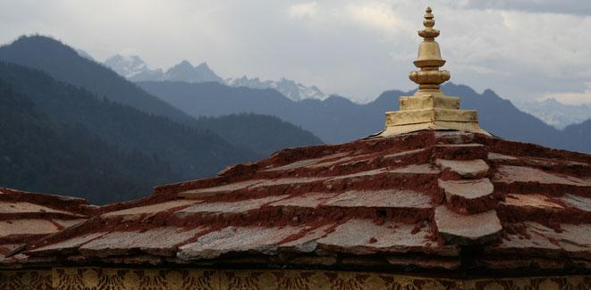 Chorten am Dochula (Bhutan 2005) - Wer hoch hinaus will braucht klare Konzepte!