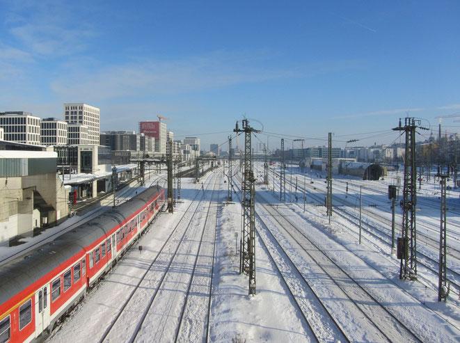 Munich Railways view from Donnersberger Bruecke