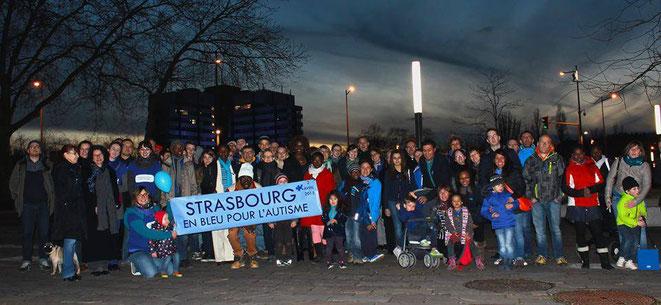 Strasbourg en Bleu pour l'Autisme - 2015