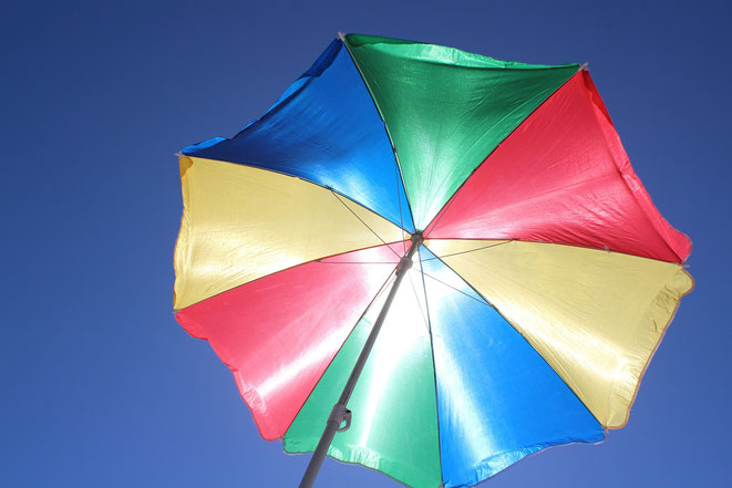 Sonnenschirm, UV-Schutz