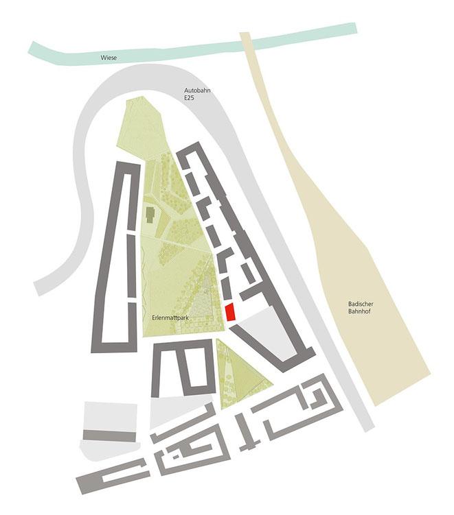 Areal Erlenmatt Ost der Stiftung Habitat in Basel