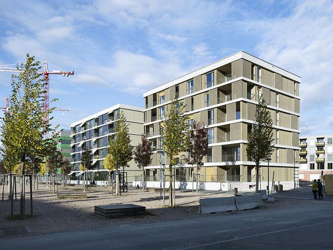 Neubau de Genossenschaft Erlenflex von Bart Buchhofer Architekten, Biel