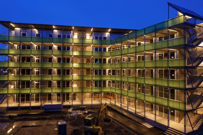 Neubau Stadterle der Genossenschaft Zimmerfrei Basel
