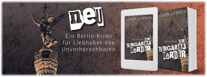 """Banner für Berlin-Krimi """"Der Tiergartenmörder"""""""