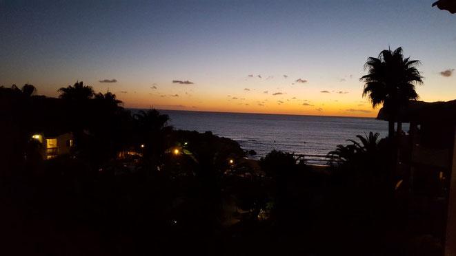 Sonnenuntergang über der Bucht La Romana